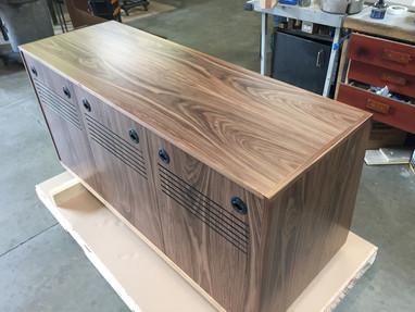 Custom Walnut 3 Bay Rack (Rear)