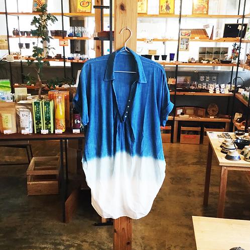 琉球藍染ワンピース