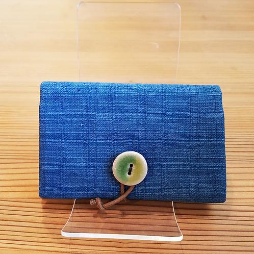 藍染め名刺入れ(ボタン)