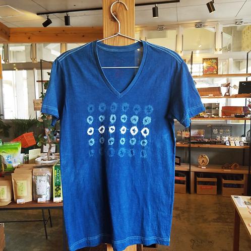 琉球藍染ちょくTシャツ Vネック