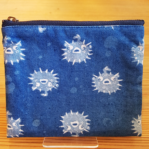 藍染めポーチ(まち無し)