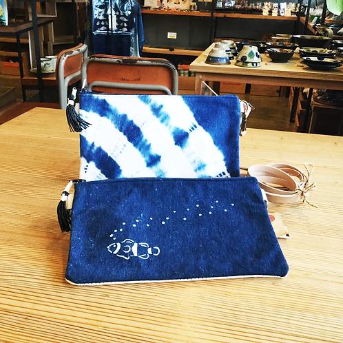 琉球藍染ポシェット