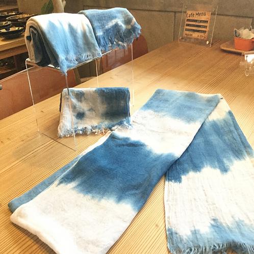 琉球藍染ストール33巾