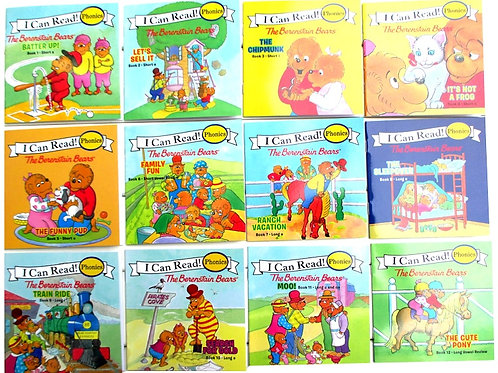 12 Books/Set I Can Read Phonics Books My Very First Berenstain Bears  book