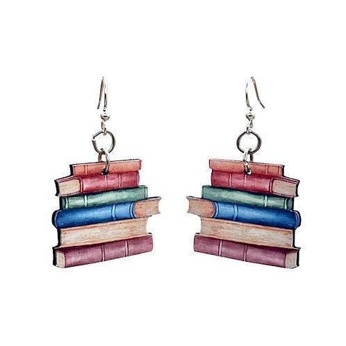 Book Earrings #T090