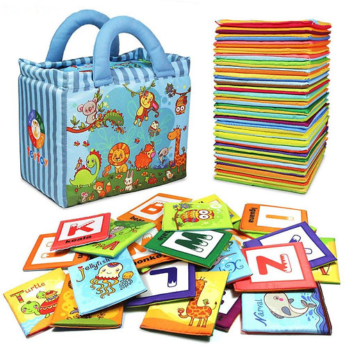 Early Learning Resources Educational Alphabet Cards, Cloth Books