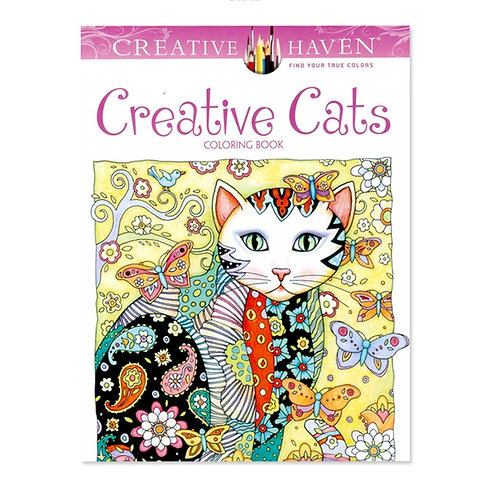 Creative Cats Coloring Books for Adults  24 pages