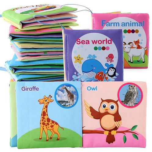 Baby Books Rustle Sound Soft Activity Quiet Book Shapes