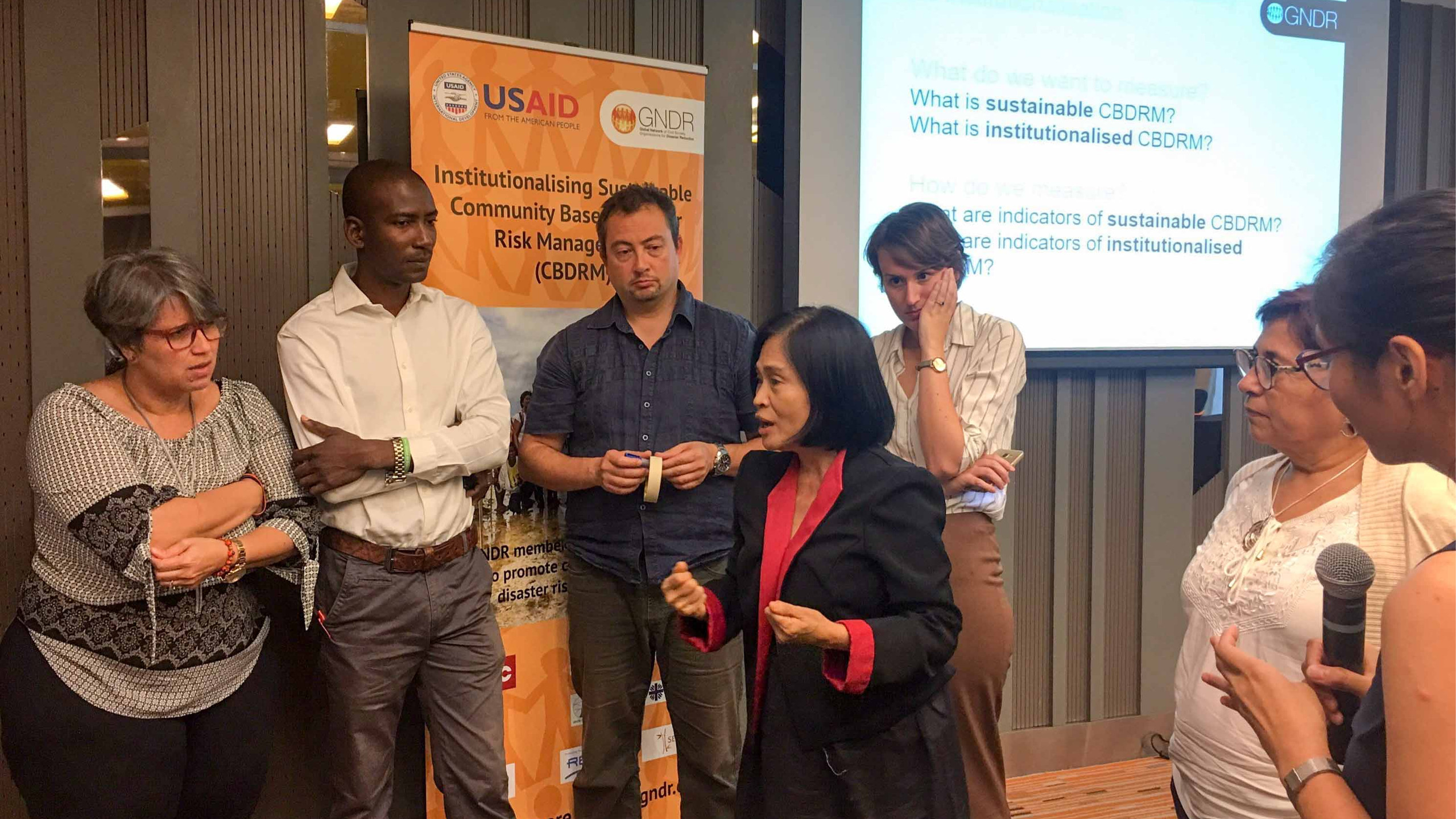 Ms. Zenaida Delica-Willison, CDP President,  shares her knowledge in CBDRM