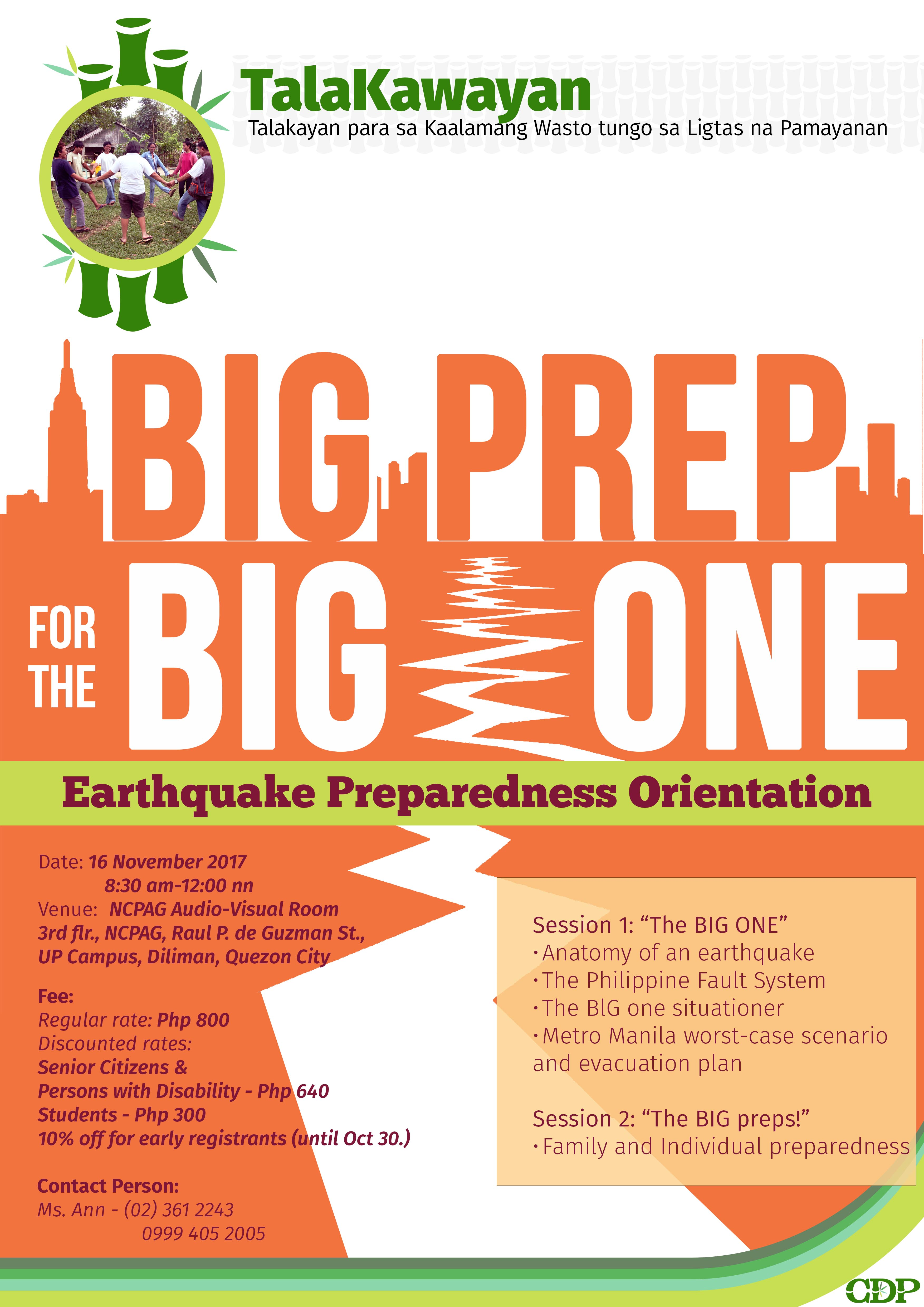 DRRM & CCA   Center for Disaster Preparedness (Philippines)   Events
