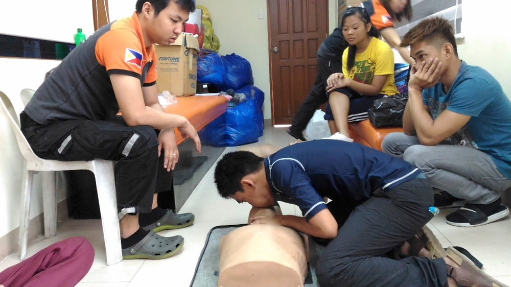 Noriel Echanes, a 16-year old youth participant, was administering Cardio-Pulmonary Resuscitation as part of their practicum.