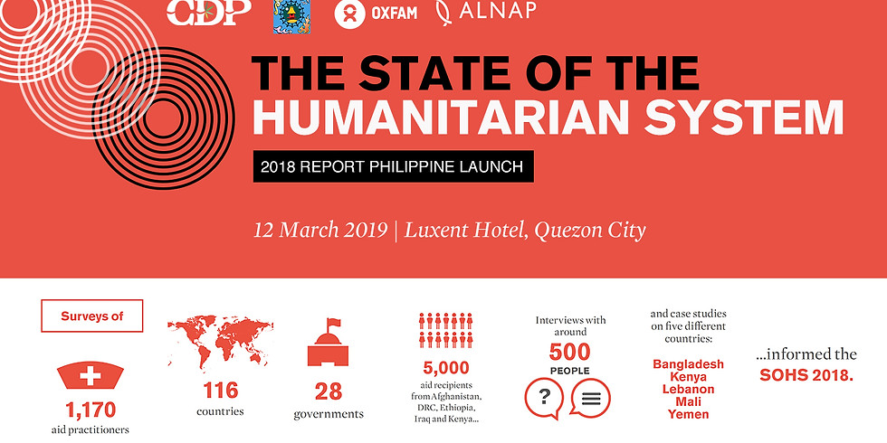 The Philippine Launch of State of the Humanitarian System 2018 Report