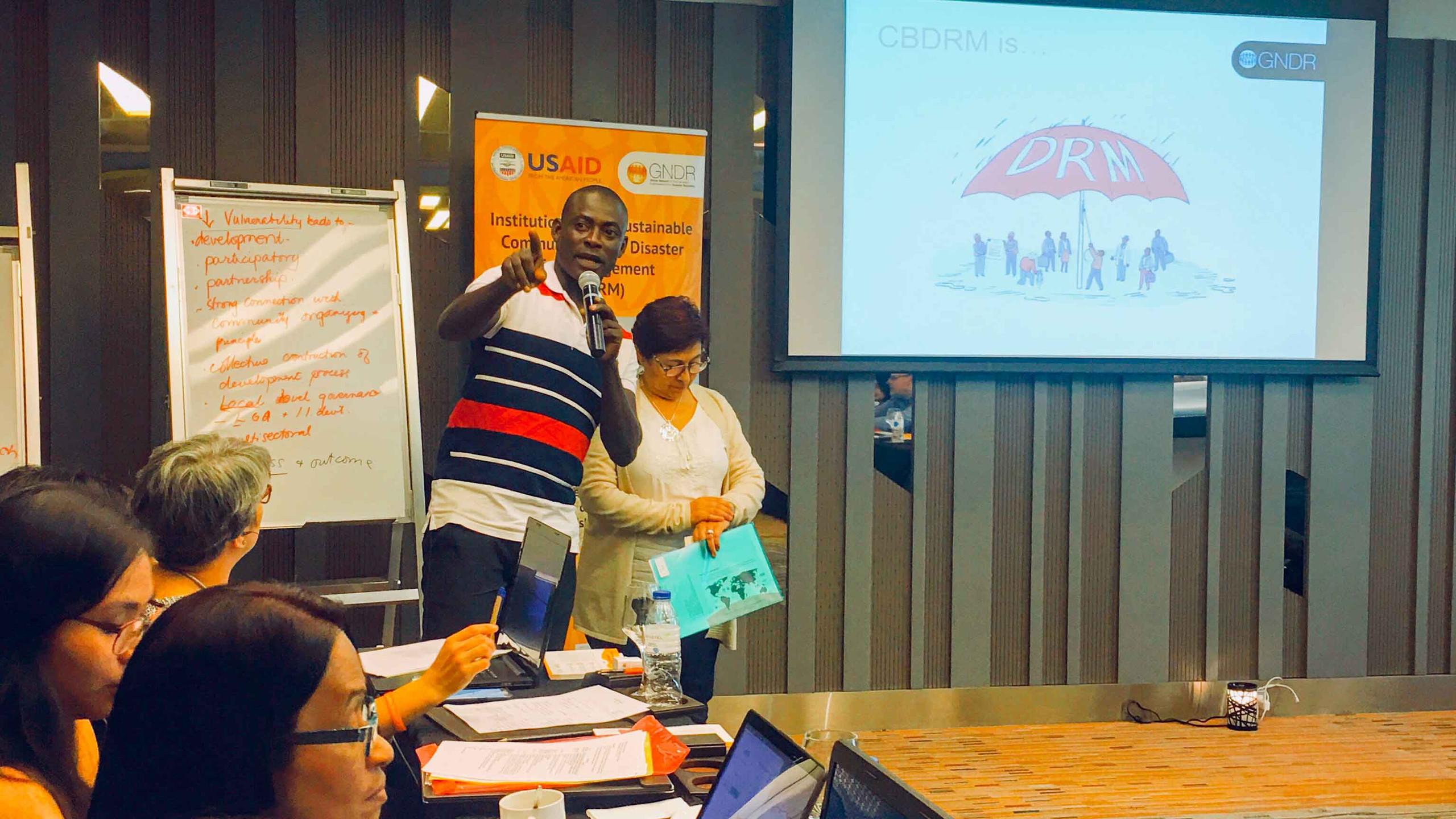 Each country representative also presented their experience in CBDRM