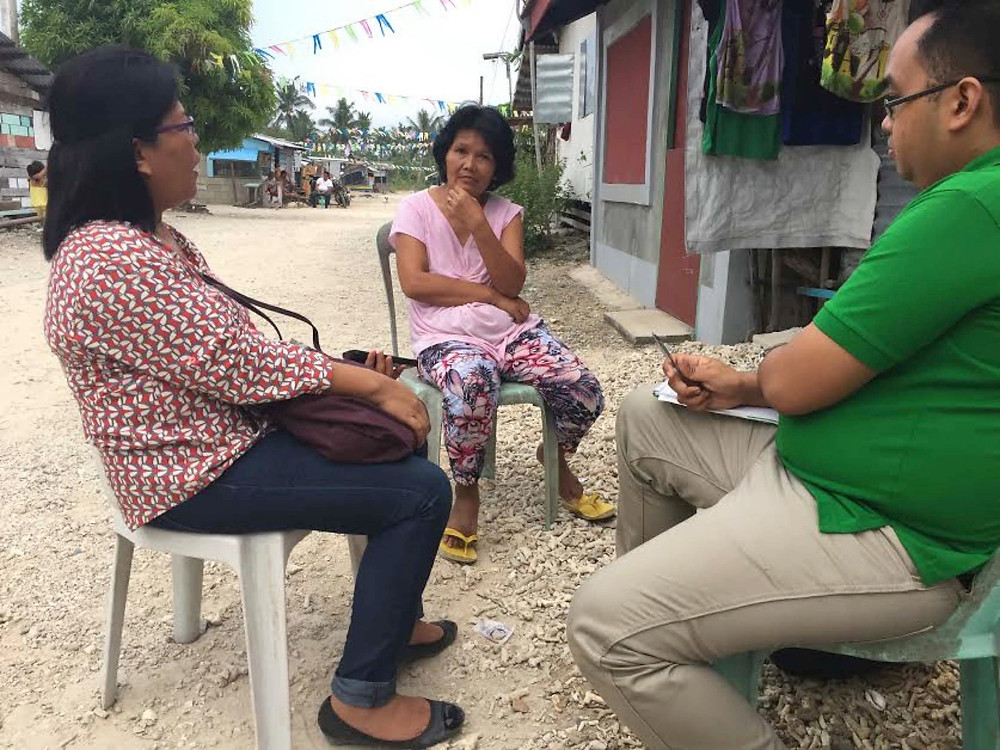Field Interviews with Community Leaders (Eastern Samar, Philippines, July, 2016).  In photo: Project team members Paolo Valenzuela and Maria Fellizar-Cagay.