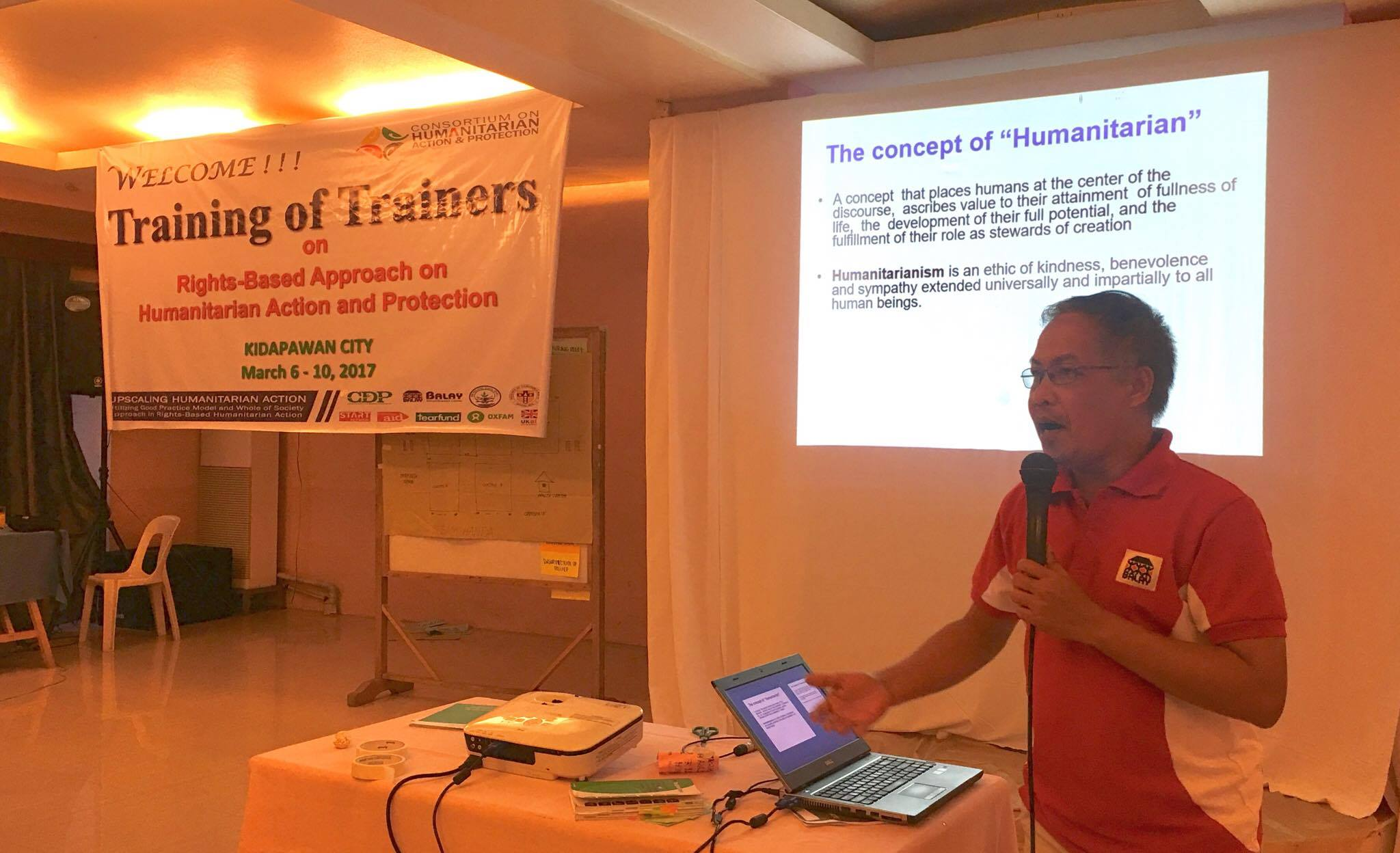 """Training of Trainers on Rights-based Approach on Humanitarian Action and Protection"" in Kidapawan City"