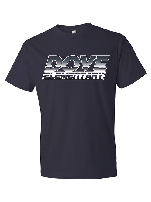 Retro Dove Elementary Logo Tee - NAVY BLUE