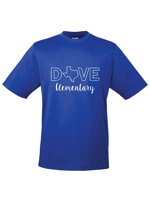 Dri-Fit Texas Dove Elementary Tee - Royal Blue - YL
