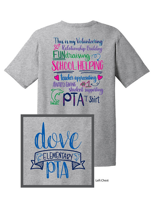 Hand-lettered Dove PTA Shirt - 2016 Design - Adult 2XL