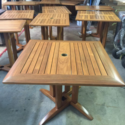 outdoor patio tables refinished