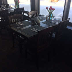 Crossroads restaurant tables