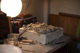 Photographs of home studio by Emily Coghlan