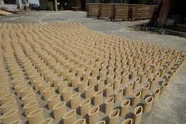 Tiles drying in Tongguan