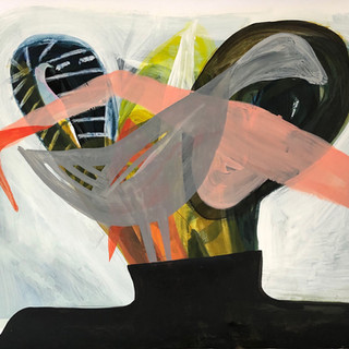 """""""El pato la garza y el mono"""", 50 x 70 cms"""