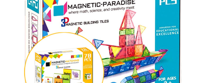 BUNDLE!! Magnetic-Paradise 92 Piece Set + 78 Piece Magnetic Matching Set