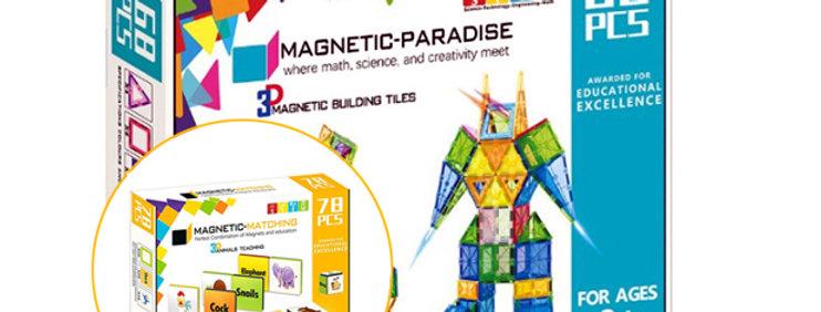 BUNDLE!! Magnetic-Paradise 68 Piece Set + 78 Piece Magnetic Matching Set