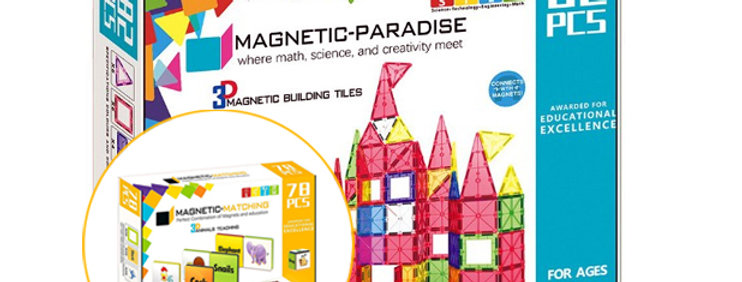 BUNDLE! Magnetic-Paradise 82 Piece Set  + 78 Piece Magnetic Matching Set