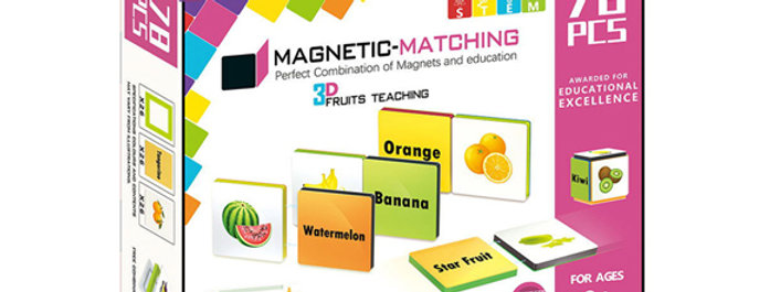 Magnetic-Paradise 78pcs 3D STEM Fruit Teaching