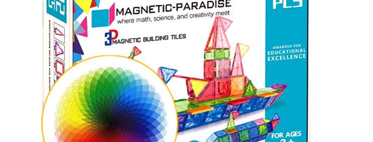BUNDLE!! Magnetic-Paradise 92 Piece Set + 1000 Pcs Round Jigsaw Puzzle
