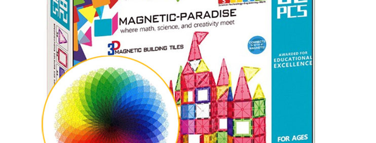 Bundle Magnetic Paradise 82 Piece Set  + 1000 Pcs Round Jigsaw Puzzle