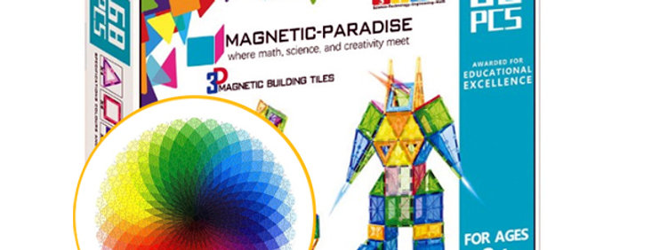 BUNDLE!! Magnetic-Paradise 68 Piece Set + 1000 Pcs Round Jigsaw Puzzle