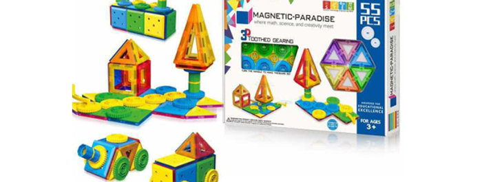 Magnetic-Paradise 55pcs 3D STEM Gear