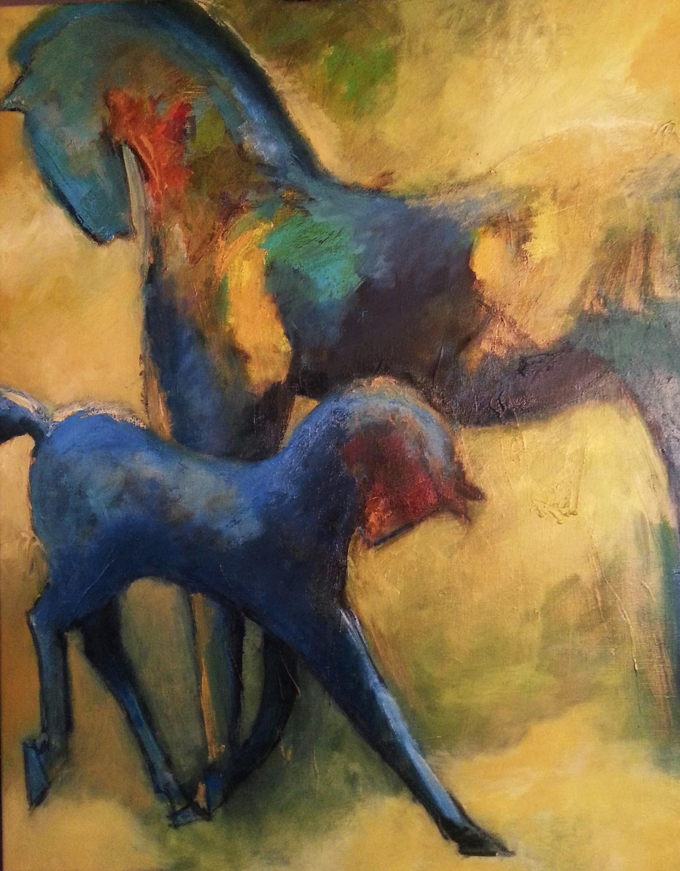 Marloes Molenaar - Paarden 70x 90 cm