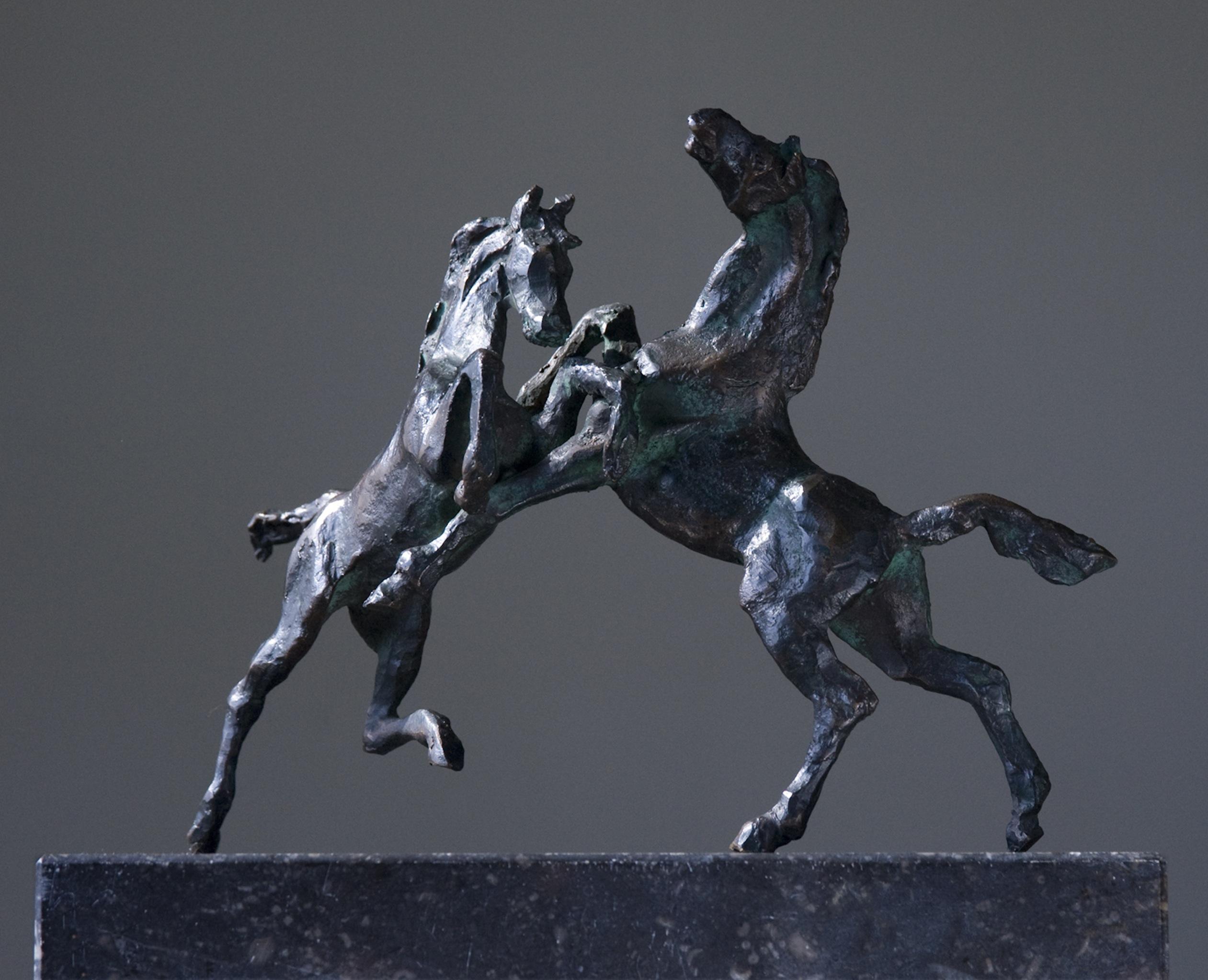 Steigerende paarden Brons