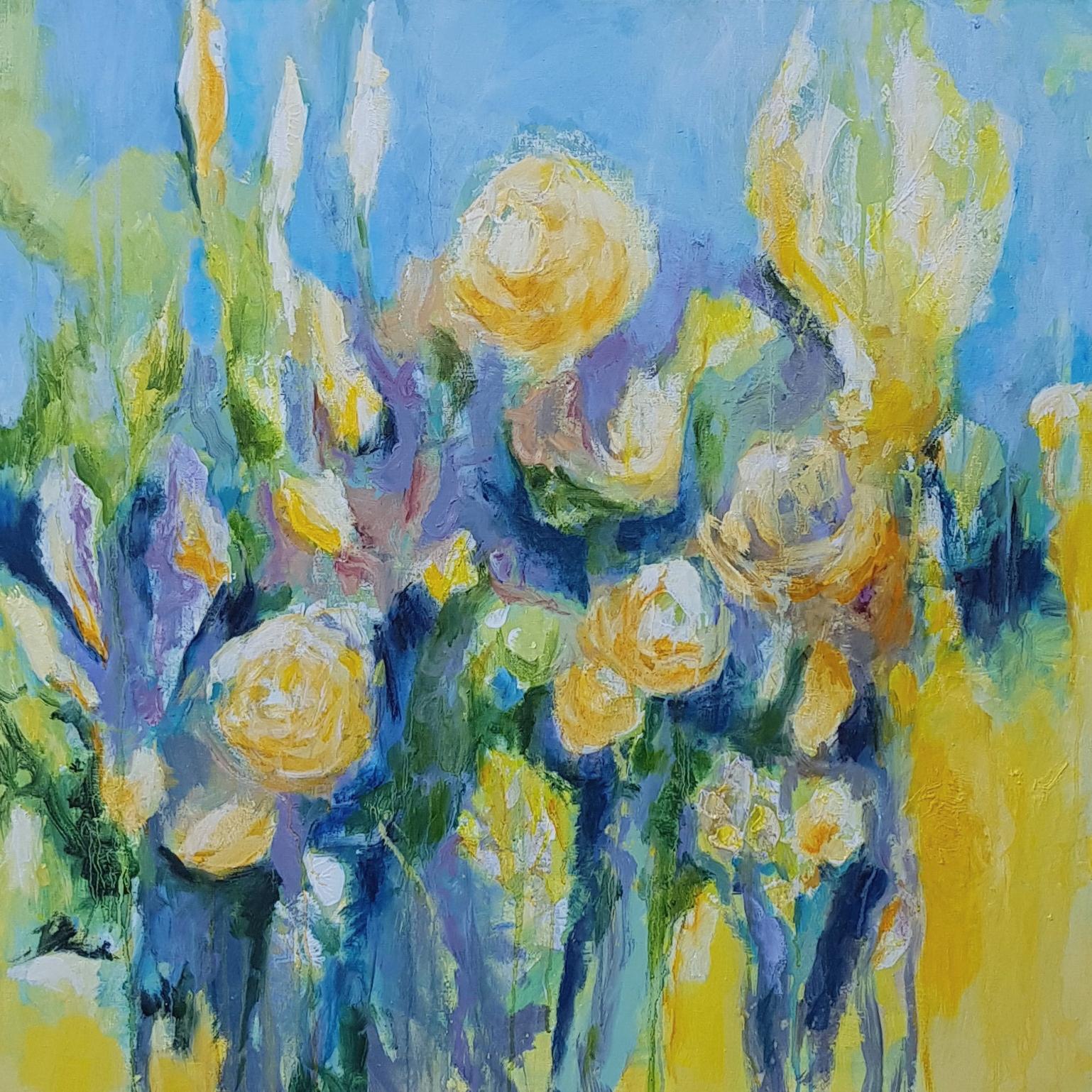 Marloes Molenaar - Bloemen 90- 90 cm