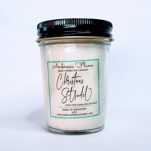 Christmas Strudel Natural Scented Soy Candle 8 oz