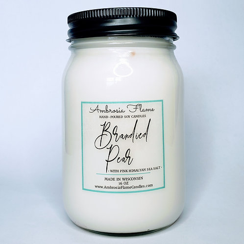 Brandied Pear Natural Scented Soy Candle 16 oz