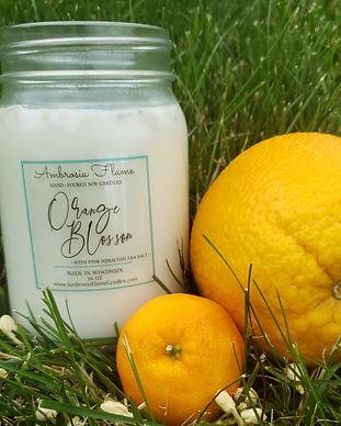 Luxury Orange Blossom Soy Candle 16 oz