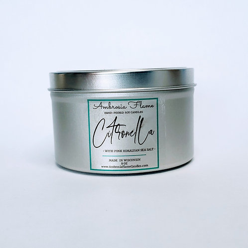 Citronella Natural Scented Soy Candle Tin