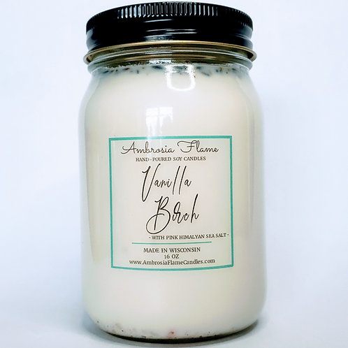 Vanilla Birch Natural Scented Soy Candle 16 oz