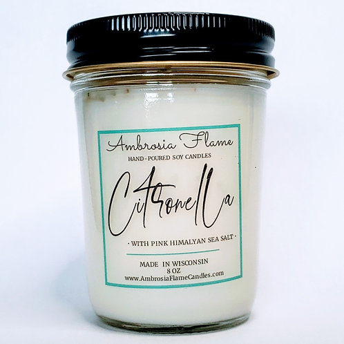 Citronella Natural Scented Soy Candle 8 oz