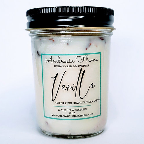 Vanilla Natural Scented Soy Candle 8oz