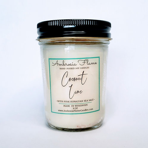 Coconut Lime Natural Scented Soy Candle 8 oz