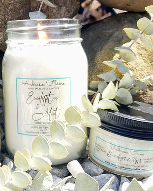 Eucalyptus & Mint 16 oz Large Scented Soy Candle