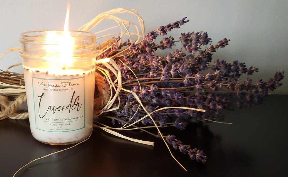 Natural Scented Lavender Soy Candle Wisconsin