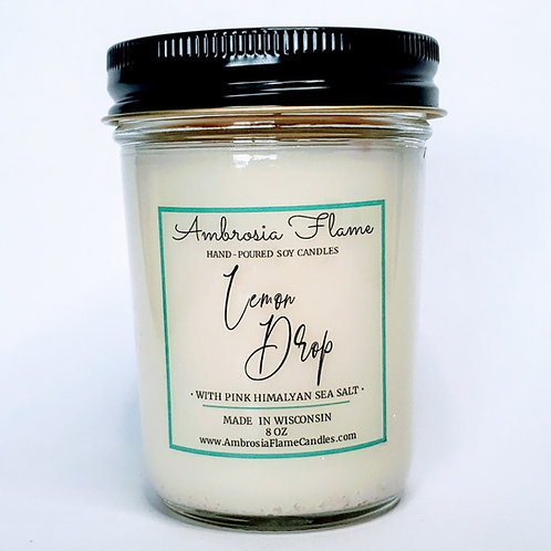 Lemon Drop Natural Scented Soy Candle 8 oz