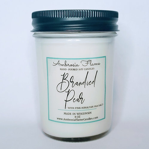 Brandied Pear Natural Scented Soy Candle 8 oz